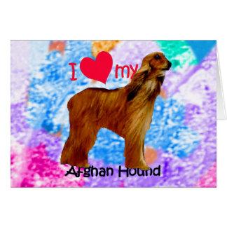 I heart my Afghan Hound Card