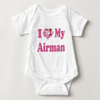 I Heart My Airman Baby Bodysuit