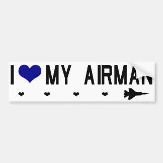 I Heart My Airman Bumpersticker Bumper Sticker