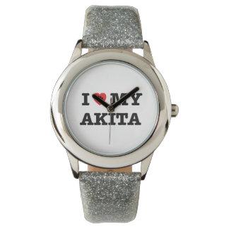 I Heart My Akita Wrist Watch
