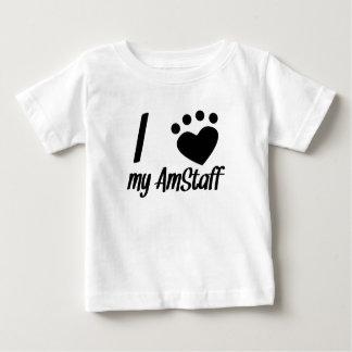 I Heart My AmStaff Baby T-Shirt