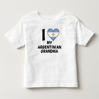 I Heart My Argentinian Grandma Toddler T-shirt