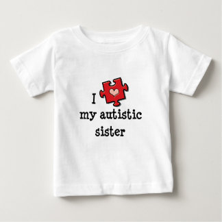 I Heart My Autistic Sister Autism Baby T-shirt