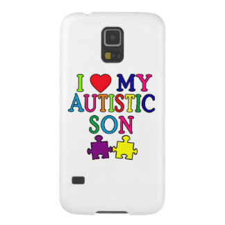 I Heart My Autistic Son Galaxy S5 Cases