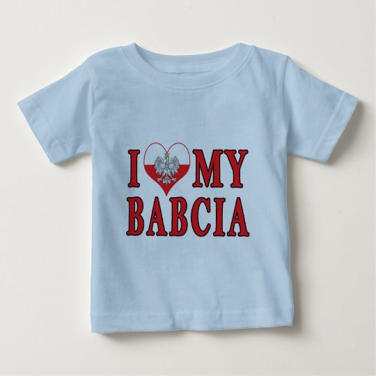 I Heart My Babcia Baby T-Shirt