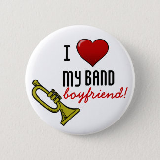 I Heart My Band Boyfriend 2 Inch Round Button