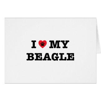 I Heart My Beagle Greeting Card