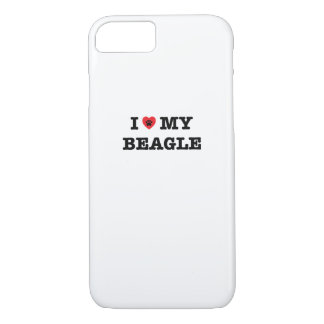 I Heart My Beagle iPhone 7 Case
