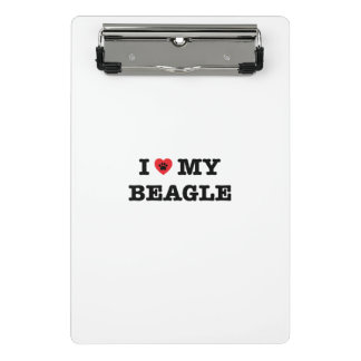 I Heart My Beagle Mini Clipboard