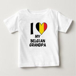 I Heart My Belgian Grandpa Baby T-Shirt