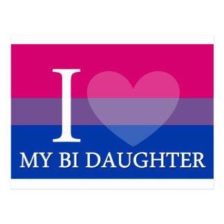 I Heart My Bi Daughter Postcard