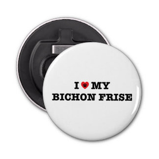 I Heart My Bichon Frise Bottle Opener