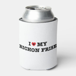 I Heart My Bichon Frise Can Cooler
