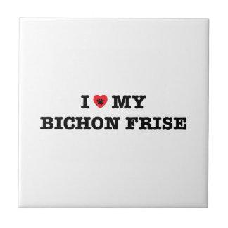 I Heart My Bichon Frise Ceramic Tile