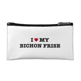 I Heart My Bichon Frise Cosmetic Bag