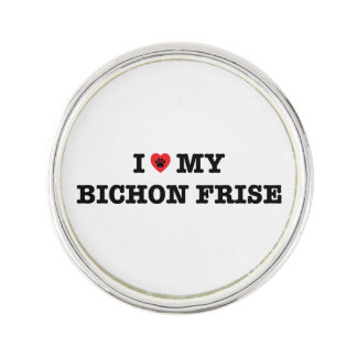 I Heart My Bichon Frise Lapel Pin