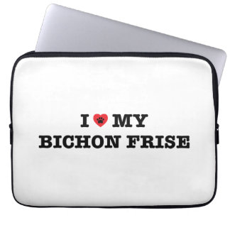 I Heart My Bichon Frise Laptop Sleeve