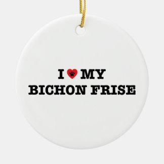 I Heart My Bichon Frise Ornament