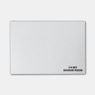 I Heart My Bichon Frise Post-it® Notes