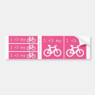 I (heart) my bike bumper sticker