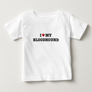 I Heart My Bloodhound Baby T-Shirt