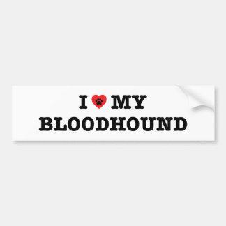 I Heart My Bloodhound Bumper Sticker