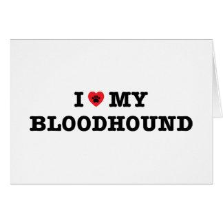 I Heart My Bloodhound Card