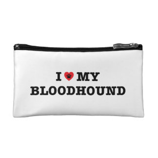 I Heart My Bloodhound Cosmetic Bag