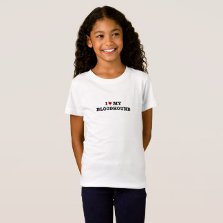 I Heart My Bloodhound Kids T-Shirt
