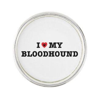 I Heart My Bloodhound Lapel Pin
