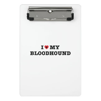 I Heart My Bloodhound Mini Clipboard