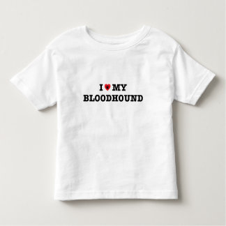I Heart My Bloodhound Toddler T-Shirt