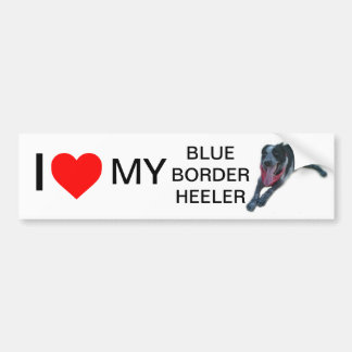 I heart My Blue Border Heeler Bumper Sticker
