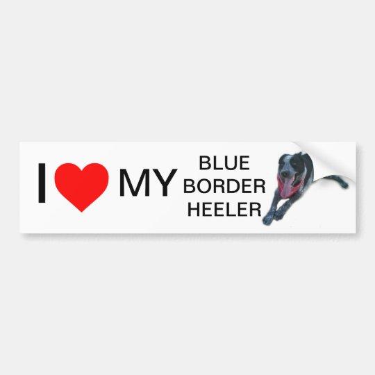 I heart My Blue Border Heeler Bumper Sticker