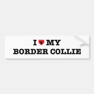 I Heart My Border Collie Bumper Sticker