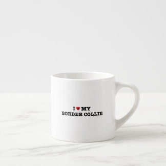 I Heart My Border Collie Espresso Cup