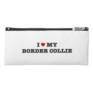 I Heart My Border Collie Pencil Case