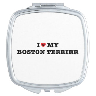 I Heart My Boston Terrier Compact Mirror