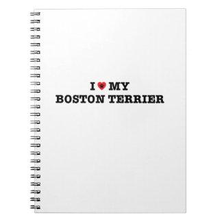 I Heart My Boston Terrier Spiral Notebook