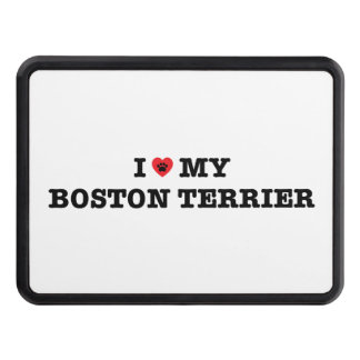 I Heart My Boston Terrier Trailer Hitch Cover