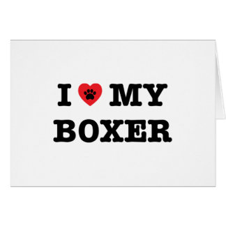 I Heart My Boxer Card