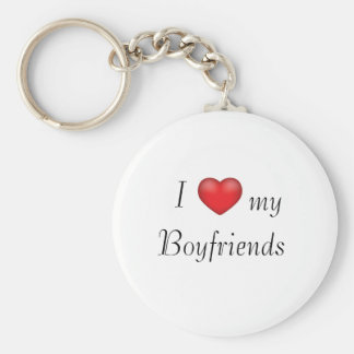 I heart my Boyfriends Basic Round Button Keychain