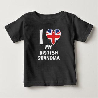 I Heart My British Grandma Baby T-Shirt