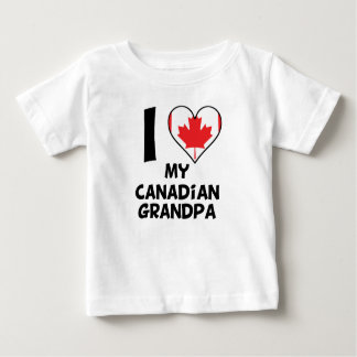 I Heart My Canadian Grandpa Baby T-Shirt
