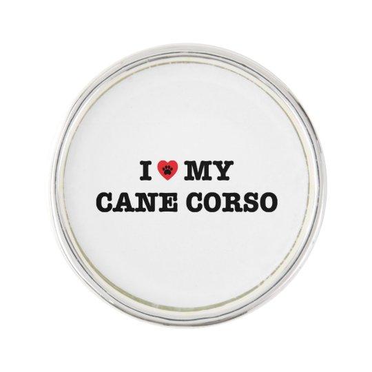 I Heart My Cane Corso Lapel Pin