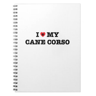 I Heart My Cane Corso Notebook