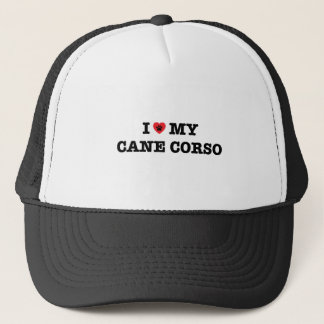 I Heart My Cane Corso Trucker Hat