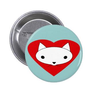 I heart my cat button pinback