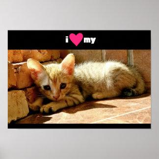 I Heart My Cat Poster