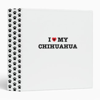 I Heart My Chihuahua 3 Ring Binders